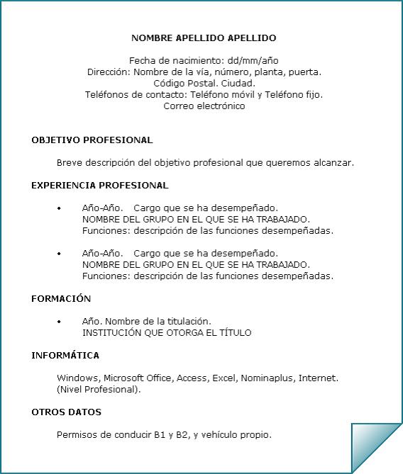 Ejemplo De Curriculum Vitae Sin Experiencia Laboral Pdf Free